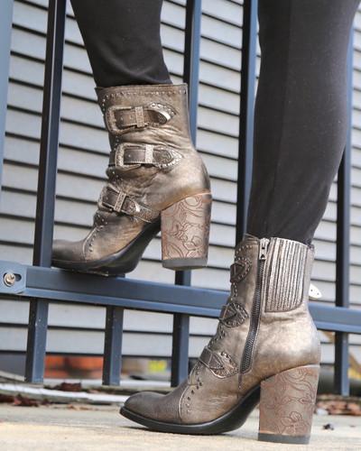 Old Gringo Addison Metallic Gold Boots BL3340-1 Zipper