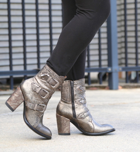 Old Gringo Addison Metallic Gold Boots BL3340-1 Walk