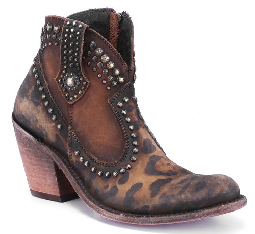 Liberty Black Spot On Studded Bootie Chita Miel LB712378 Picture