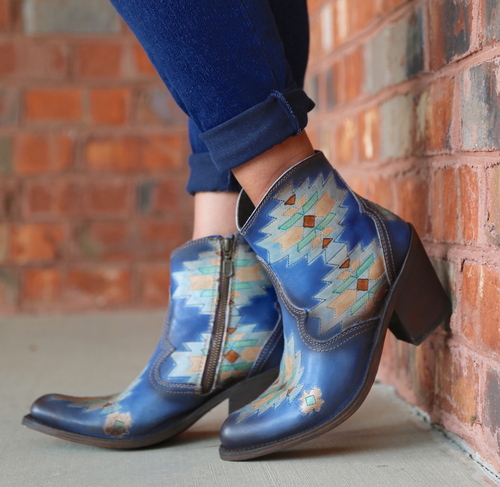 Liberty Black Southwest Sally Sky Boots SLMBF014A Picture