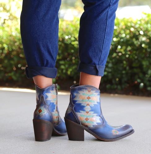 Liberty Black Southwest Sally Sky Boots SLMBF014A Heel