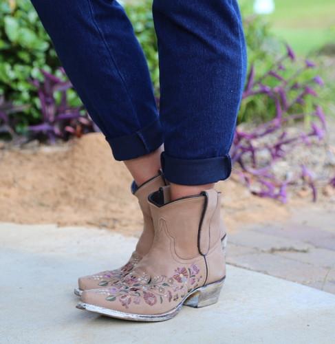 Liberty Black Daisy Toccato Boots SLMFD003 Picture