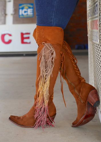 Junk Gypsy by Lane Spirit Animal Chestnut Suede Boots JG0022D Fringe