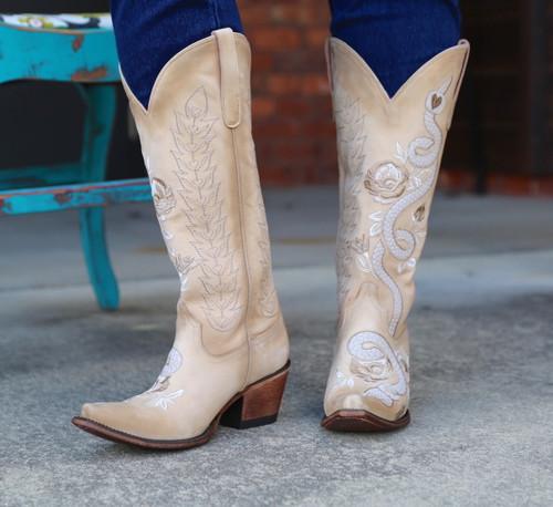 Junk Gypsy by Lane Charmer Shadow Bone Boots JG0054B Image