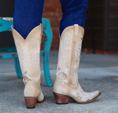 Junk Gypsy by Lane Charmer Shadow Bone Boots JG0054B Heel
