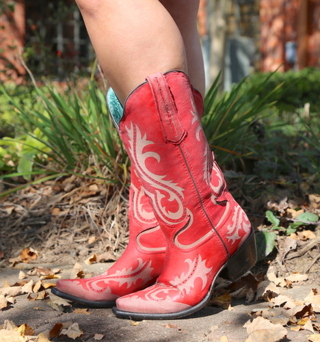Corral Red Laser Engraved Boots G1524 Image