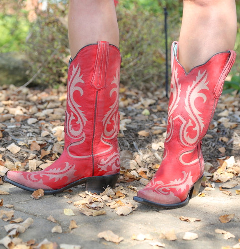 Corral Red Laser Engraved Boots G1524 Picture
