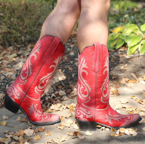 Corral Red Laser Engraved Boots G1524 Photo