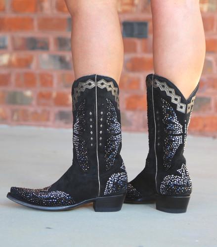 Old Gringo Monarca Swarovski Glam Boots L3326-1 Heel