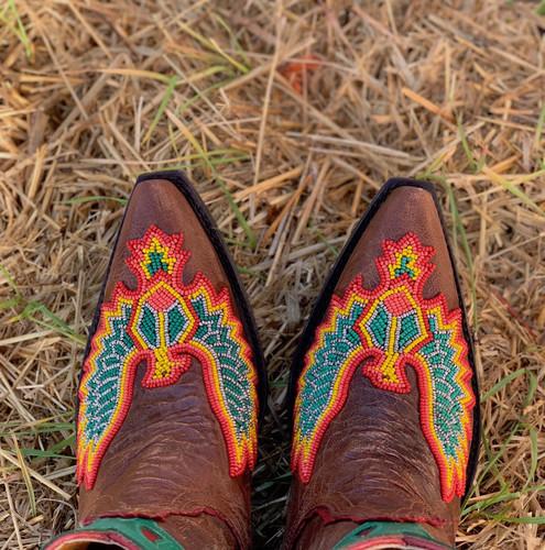 Old Gringo Eagle Beaded Oryx Boots BL3295-4 Toe