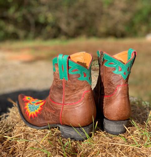 Old Gringo Eagle Beaded Oryx Boots BL3295-4 Heel