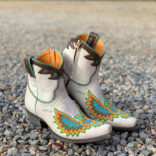 Old Gringo Eagle Beaded White Boots BL3295-3 Photo