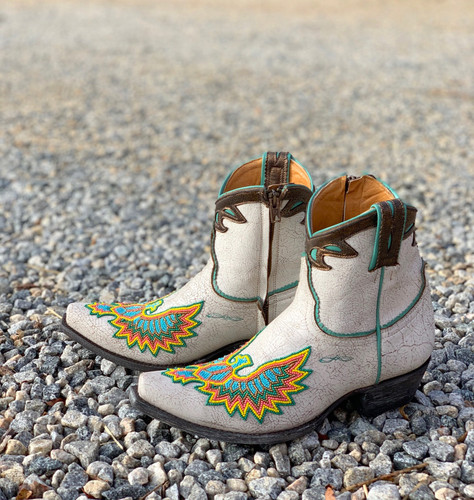 Old Gringo Eagle Beaded White Boots BL3295-3 Image