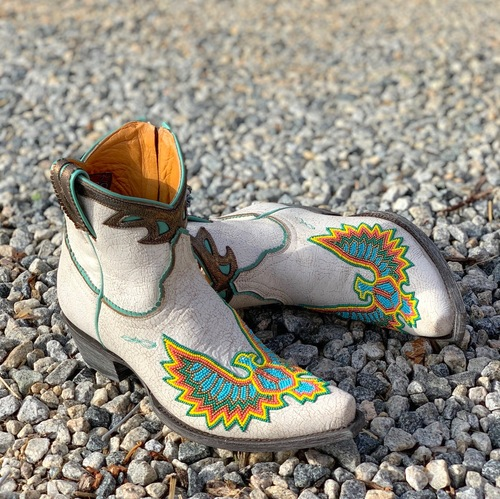 Old Gringo Eagle Beaded White Boots BL3295-3 Picture