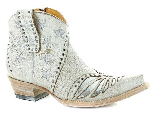 Old Gringo United Short Stud Crackled Taupe Boots BL3337-1 Image