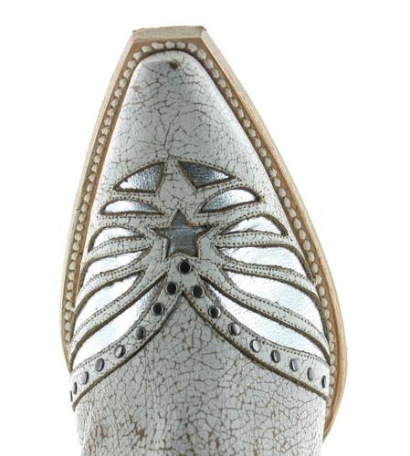 Old Gringo United Short Stud Crackled Taupe Boots BL3337-1 Toe