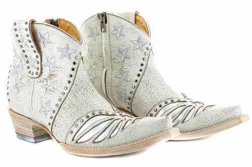 Old Gringo United Short Stud Crackled Taupe Boots BL3337-1 Picture