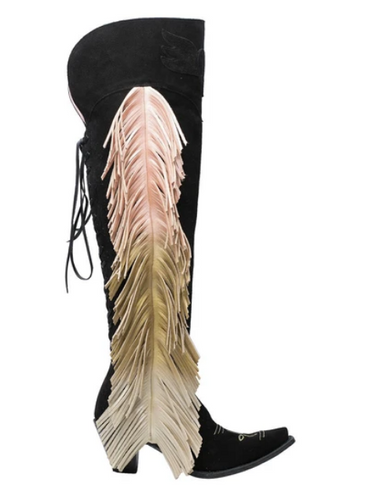 Junk Gypsy by Lane Spirit Animal Black Suede Boots JG0022E Photo