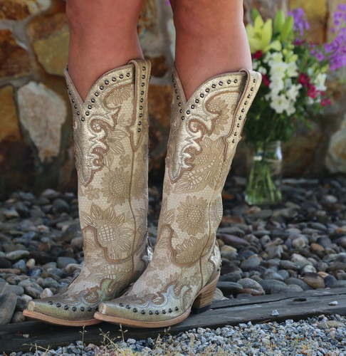 Double D by Old Gringo Something New Bone Boots DDL076-1 Picture