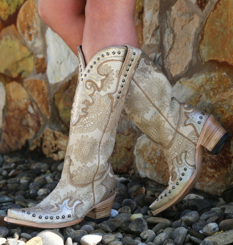 Double D by Old Gringo Something New Bone Boots DDL076-1 Toe
