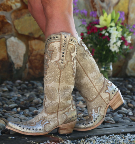 Double D by Old Gringo Something New Bone Boots DDL076-1 Walk
