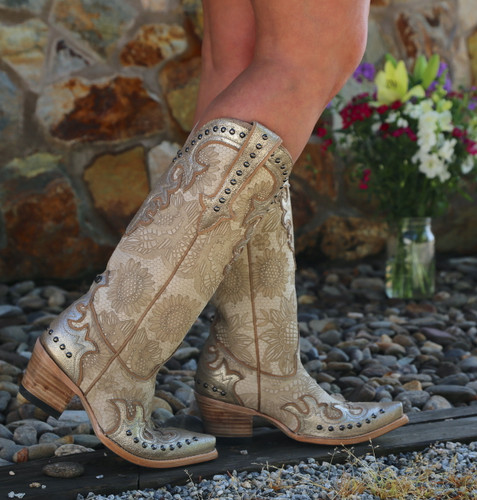 Double D by Old Gringo Something New Bone Boots DDL076-1 Photo