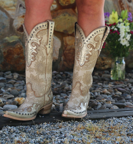Double D by Old Gringo Something New Bone Boots DDL076-1 Image