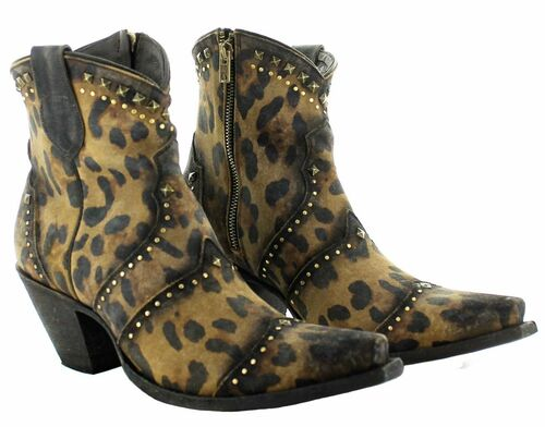 Yippee by Old Gringo Natasha Mustard Cheetah Boots YBL433-1 Picture
