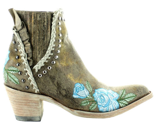 Old Gringo Bouquet Toss Crackled Gold Boot BL3407-2 Photo