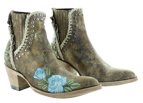 Old Gringo Bouquet Toss Crackled Gold Boot BL3407-2 Picture