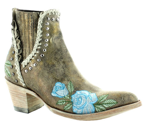 Old Gringo Bouquet Toss Crackled Gold Boot BL3407-2 Image