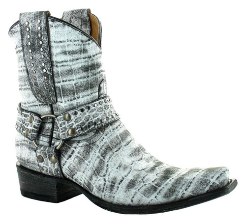 Old Gringo Aria Plain Harbor Grey Biker Boot BL3420-1 Image