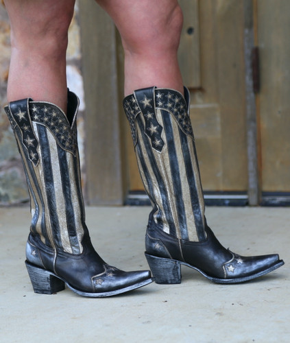 Yippee by Old Gringo Bloom Black Boots YL470-1 Photo