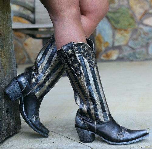Yippee by Old Gringo Bloom Black Boots YL470-1 Image