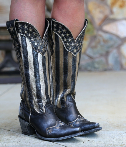 Yippee by Old Gringo Bloom Black Boots YL470-1 Picture