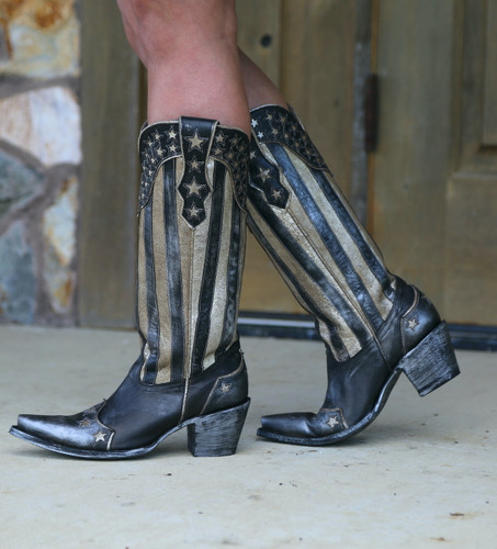 Yippee by Old Gringo Bloom Black Boots YL470-1 Walk