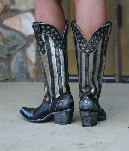 Yippee by Old Gringo Bloom Black Boots YL470-1 Heel
