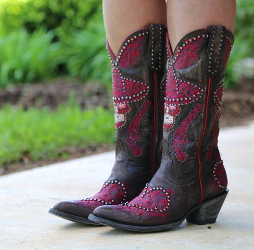 Old Gringo L&L Chocolate Boots L3460-1 Detail