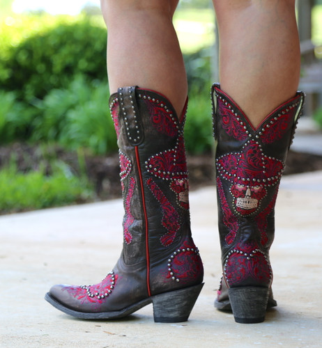 Old Gringo L&L Chocolate Boots L3460-1 Heel