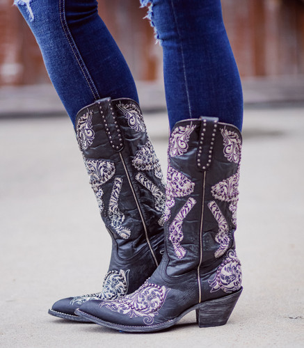 Old Gringo L&L Black Boots L3460-2 Image