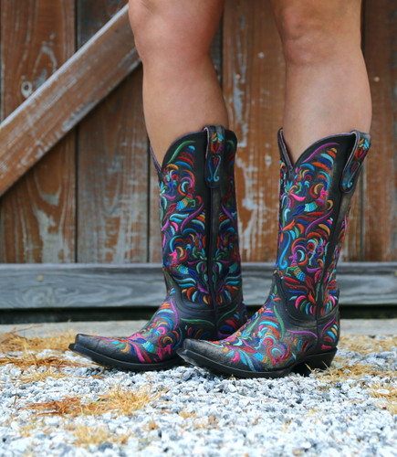 Old Gringo Taos Fiesta Rustic Beige Boots L3444-2 Image