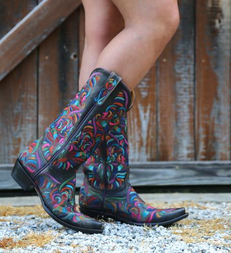 Old Gringo Taos Fiesta Rustic Beige Boots L3444-2 Photo