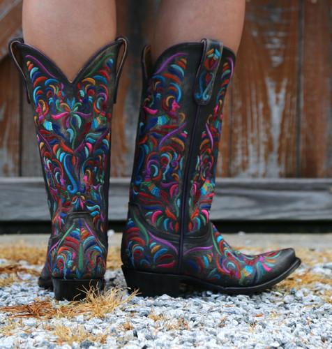 Old Gringo Taos Fiesta Rustic Beige Boots L3444-2 Heel