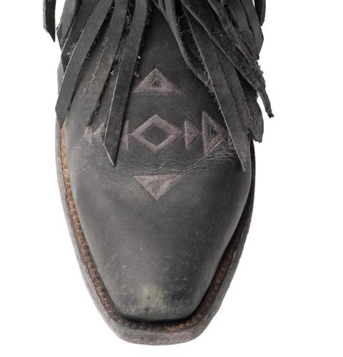 Junk Gypsy by Lane Thunderbird Fringe Black Boots JG0059B Toe