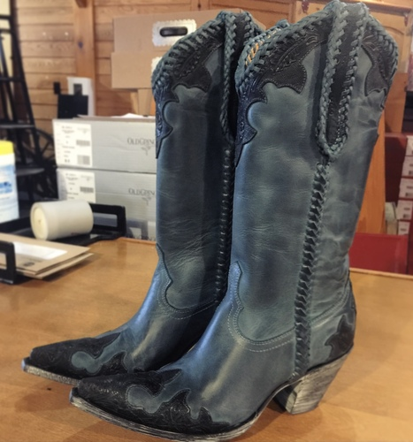 Old Gringo Julian Dark Ink Blue Boots L551-9 Picture