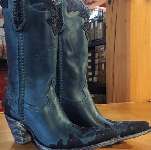 Old Gringo Julian Dark Ink Blue Boots L551-9 Image