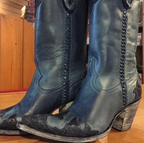 Old Gringo Julian Dark Ink Blue Boots L551-9 Photo