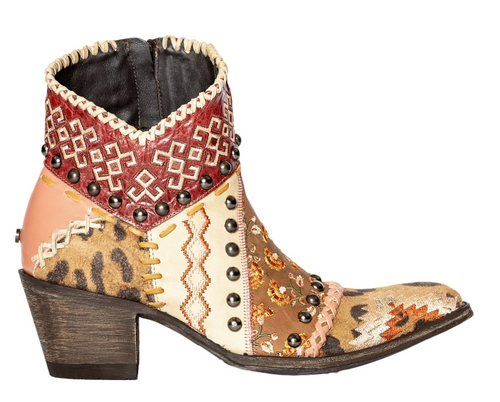 Double D by Old Gringo Blow Out Bootie Pink DDBL088-1 Image