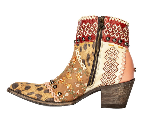 Double D by Old Gringo Blow Out Bootie Pink DDBL088-1 Zipper
