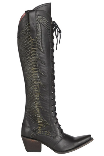 Junk Gypsy by Lane Trail Boss Black Boots JG0060C Image